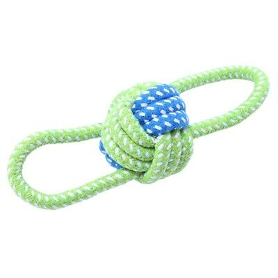 10X(Dog Toy Dog Chews Cotton Rope Knot Ball Grinding Teeth molar Pet Toys L 3M6)