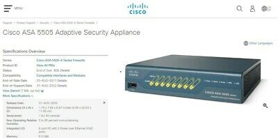 CISCO ASA 5505 series Adaptive Security Appliance Brand New in Box