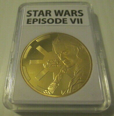 Star Wars Episode Vll Gold Plate Commemorative Coin