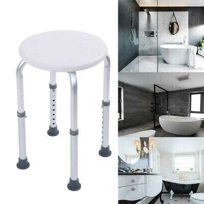 Shower Chair Bath Seat Adjustable Height Medical Safety Bathroom Stool Bench
