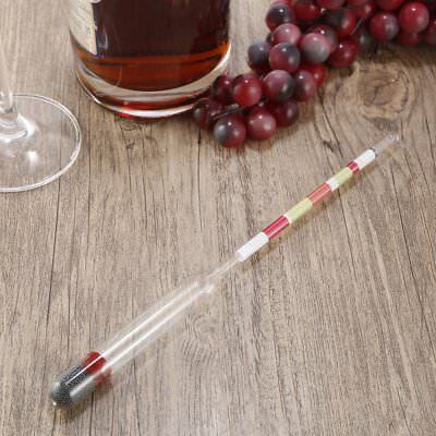 Hydrometer Alcohol Meter+Thermometer Tester Set for Making Wine Beer Liquor