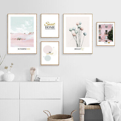 Fashion Art Poster Nordic Pink Wall Canvas Print Scandinavian Home Decoration