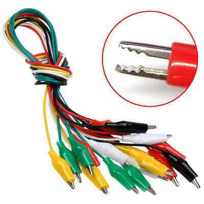 """10 Pcs 20"""" Double Ended Alligator Clips Test Lead Electrical Clamps Jumper Wire"""