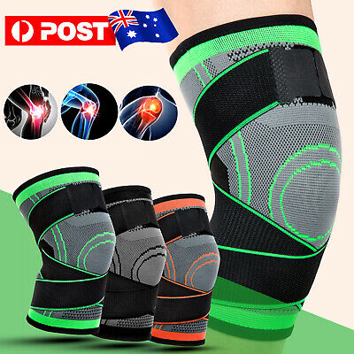 Knee Sleeves Compression Brace Patella Support Stabilizer Sports Gym Joint Pain
