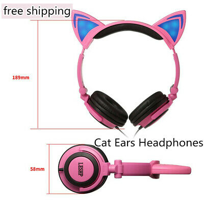 be2c2ead6d4 iClever BoostCare Kids Headphones Wired Over Ear Headphones with Cat Ears  85dB