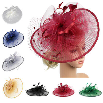 Large Headband and Clip Hat Fascinator Weddings Ladies Day Races Royal Ascot New