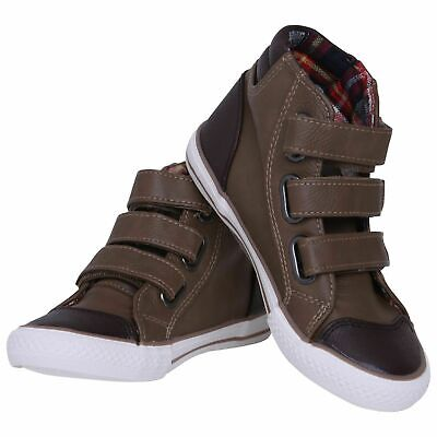 Kids Boys Girls High Top Trainers Sneakers Children Sports Casual Shoes Size New