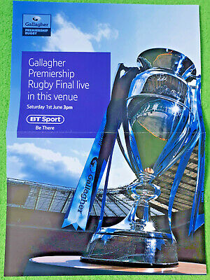 RARE Saracens Exeter Chiefs Gallagher Premiership Final BT Sport Poster n ticket
