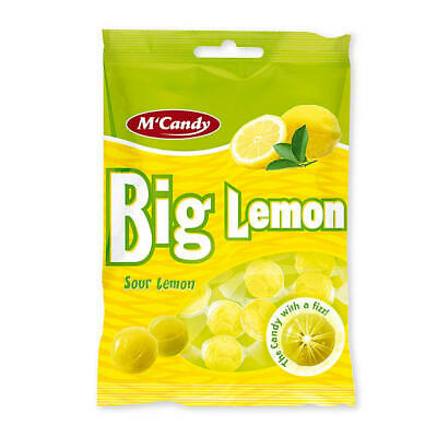 20x 150g M'Candy Big Lemon saure Zitrone  (5,97 EUR/kg)