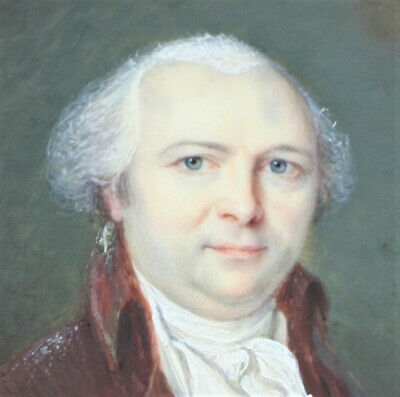 MINIATURE WATER-COLOUR PORTRAIT REGENCY GENTLEMAN Signed E. Swagers & dated 1790