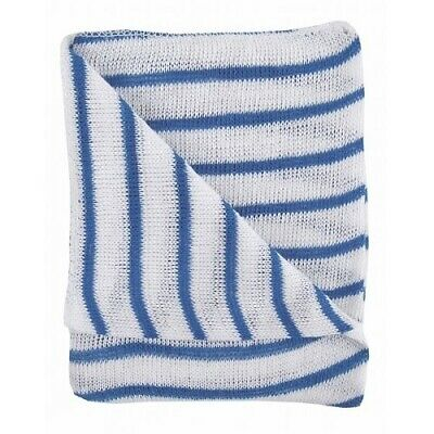 Striped Stockinette Cotton Dish Cloths 30 x 40cm Various Colours Available
