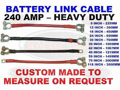 "Heavy Duty 24/""Van Truck Lorry Hgv Earth Strap Battery Lead Cable Negative 300Amp"