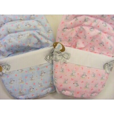 NEW Kinder Bunnies & Bows Spanish Romany Style Car Seat Cosy Toes Liner Footmuff