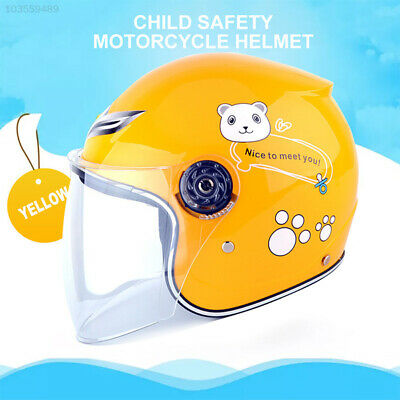 23C7 3 Colors Children Motorcycle Helmets Open Face Muffler Easy To Wear