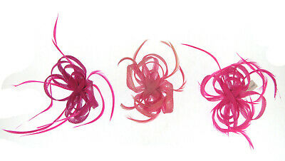 Pink Twisted Fascinator Clip Choice Of Pink, Weddings Races