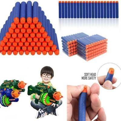 100-1200PC Soft Darts Bullets Toy For NERF Gun Refill  N-Strike Round Head Blast