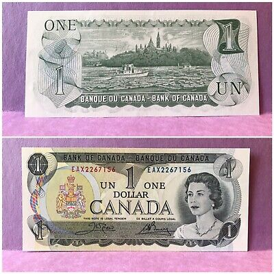 1973 Bank of Canada EAX $1 REPLACEMENT UNC note