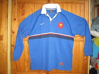 Maillot FFR RUGBY QUINZE de FRANCE Shirt WORLD CUP 1999 NIKE Taille XL Size