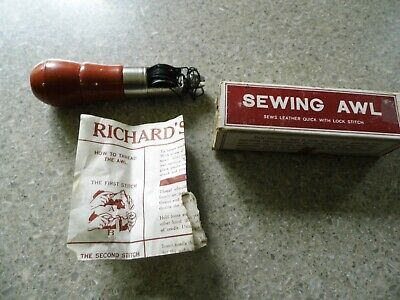 Vintage Richards Sewing Awl - Model N0. 1331- Leather Sewing w/Box