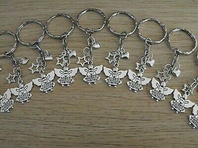 Wholesale Joblot 10 Keyrings, Angels Watching Over Me,Gifts, Party Bags, Easter.