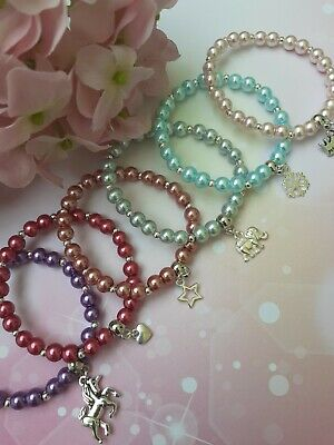 Wholesale Jewellery Job Lot 24 Childrens Beaded Charm Bracelets,Gifts,Party Bags