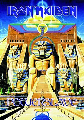 IRON MAIDEN - POWER SLAVE - FABRIC POSTER - 30x40 WALL HANGING - MUSIC 0273