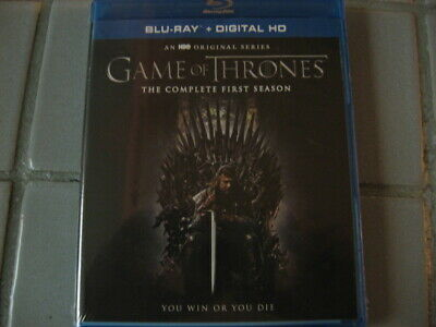 Game Of Thrones: The Complete First Season Blu Ray NEW SEALED (NO DIGITAL)