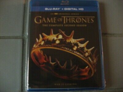 Game Of Thrones: The Complete Second Season Blu Ray NEW SEALED (NO DIGITAL)