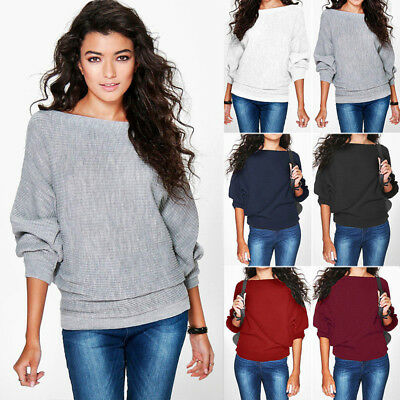Women Batwing Loose Jumpers Sweater Ladies Pullover Warmer Casual Tops Blouse