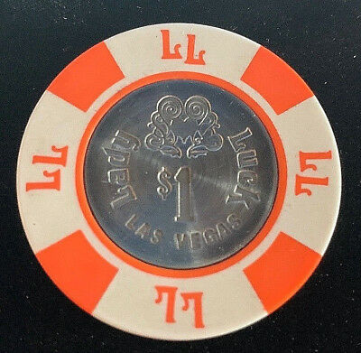Lady Luck Hotel & Casino $1.00 Casino Chip with Metal Center