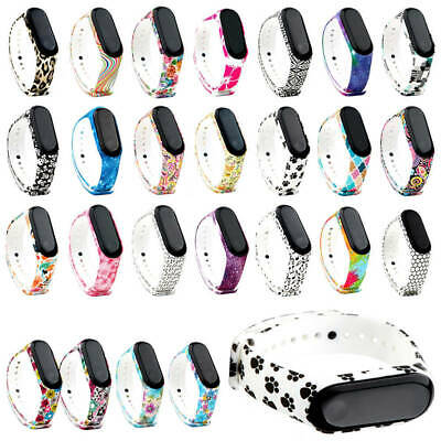 For Xiaomi Mi Band3/4 Replacement TPU Colorful Printed Wrist Band Strap Bracelet