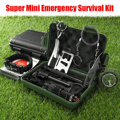 13 In 1 Survival Equipment Kit Emergency Camping Sos Outdoor Tactical
