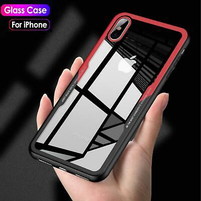 iPhone X XR XS MAX 7 8 Plus Shockproof Hybrid Case Cover Toughen Glass for Apple