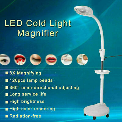 8 X Magnifying Floor Stand Lamp Light Magnifier LED Tattoo Beauty Salon