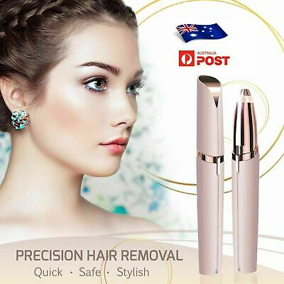 Electric Brow Remover Razor Face Eyebrow Trimmer Facial Hair Removal LED Light A