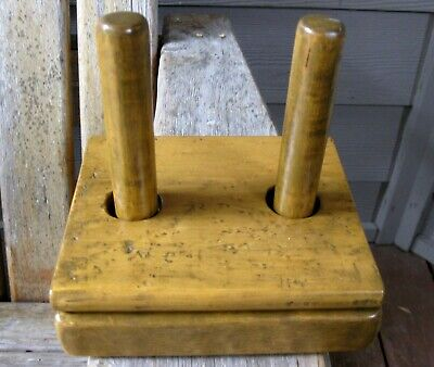 Vintage Farmhouse Wood Wool Flax Winder? Primitive Rustic Patina Birdseye Maple?