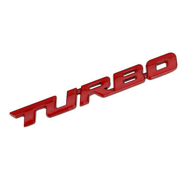 3D TURBO Letter Sticker Metal Emblem Badge Auto Car Body Styling Decal Logo Red