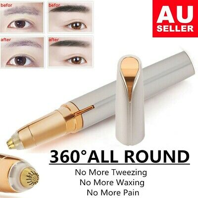 NEW Women's Brows Facial Hair Remover Electric Eyebrow Trimmer Epilator LED AU