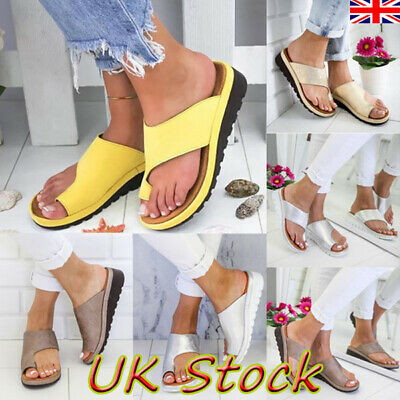 Womens Ladies Toe Post Platform Sandals Summer Beach Slippers Shoes Flip-flops