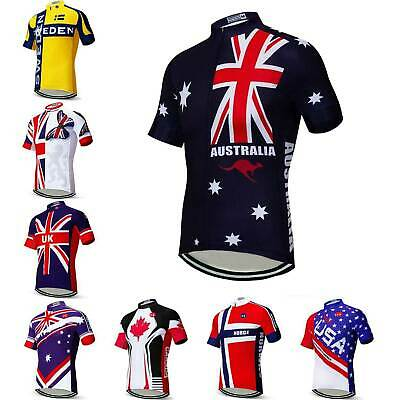Australia Team Cycling Jersey Men's Short Sleeve Bike Cycle Jersey Tops S-5XL