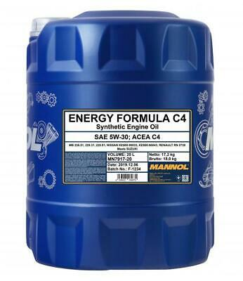 Mannol Energy Formula C4 Fully Synthetic High Grade Engine Oil 5W30 20L