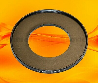46mm to 77mm 46-77 Stepping Step Up Filter Ring Adapter 46-77mm 46mm-77mm (UK)