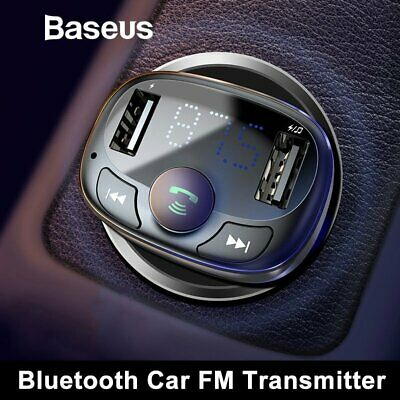 Baseus Car USB Charger FM Transmitter Audio Music Player Radio Adapter Bluetooth
