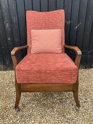 Vintage Easy Chair / Armchair On Castors