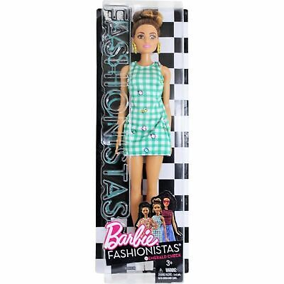 Barbie Fashionistas Doll 50 Emerald Check Brand New Fast Postage