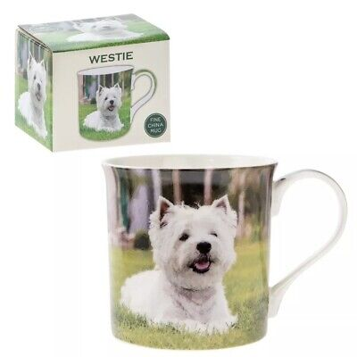 Fine China Cute Westie Mug Ideal Gift Lover West Highland Terrier Boxed