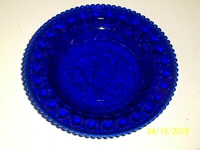 Antique Cobalt Blue Plate/Dish With Spread Wing Eagle Surrounded By 28 Dots