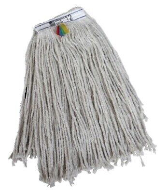 2 x Kentucky Mop Heads 12oz Complete with Clip and Mop Handle Bundle Deal