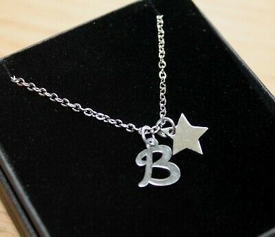 Star Necklace Pendant Personalised With Any Letter Initial Jewellery Gifts