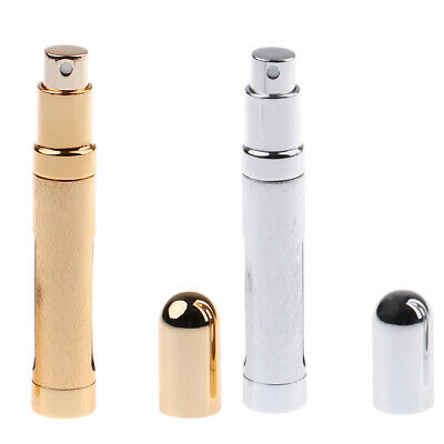 2x Travel 12ml Empty Bottle Fragrance Perfume Makeup Atomizer Container Vial